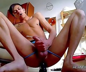 big anal orgasm riding multiple dildos 10 min