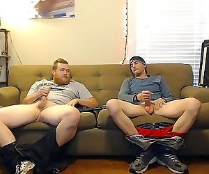 This guy said he was straight, but didnt act like it when jerking off with this other dude on secret cam 12 min 1080p