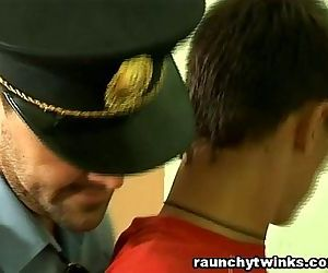 Horny Cop Loves To Fuck Twinks Butt