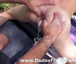 Kinky gay anal sex for master and twink