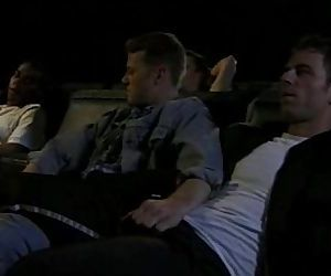 bareback orgy at german movie theatre