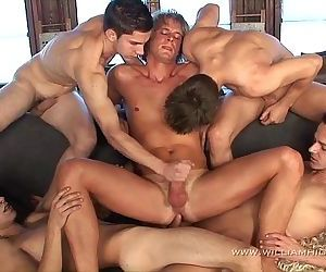 Gay Resort Wank Party #11part 1