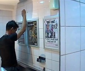 sexy emigrant slutboy gets fucked in pub toilet